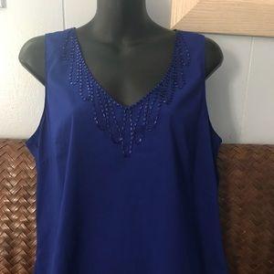H&M Embellished V-neck Blouse size 12